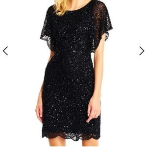 Adrianna Papell sequin beaded cocktail dress
